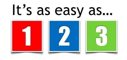 Social media easy as 1-2-3